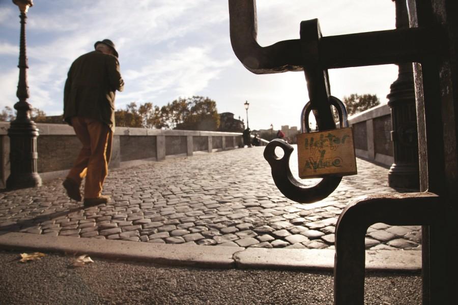 Liebes-Schlösser in Rom findet man überall