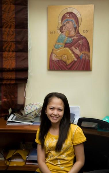 Sekretärin im Vorzimmer