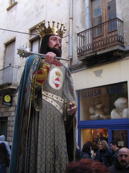 """Wie bei jedem Fest sieht man auch in Valls die """"Giganten"""""""