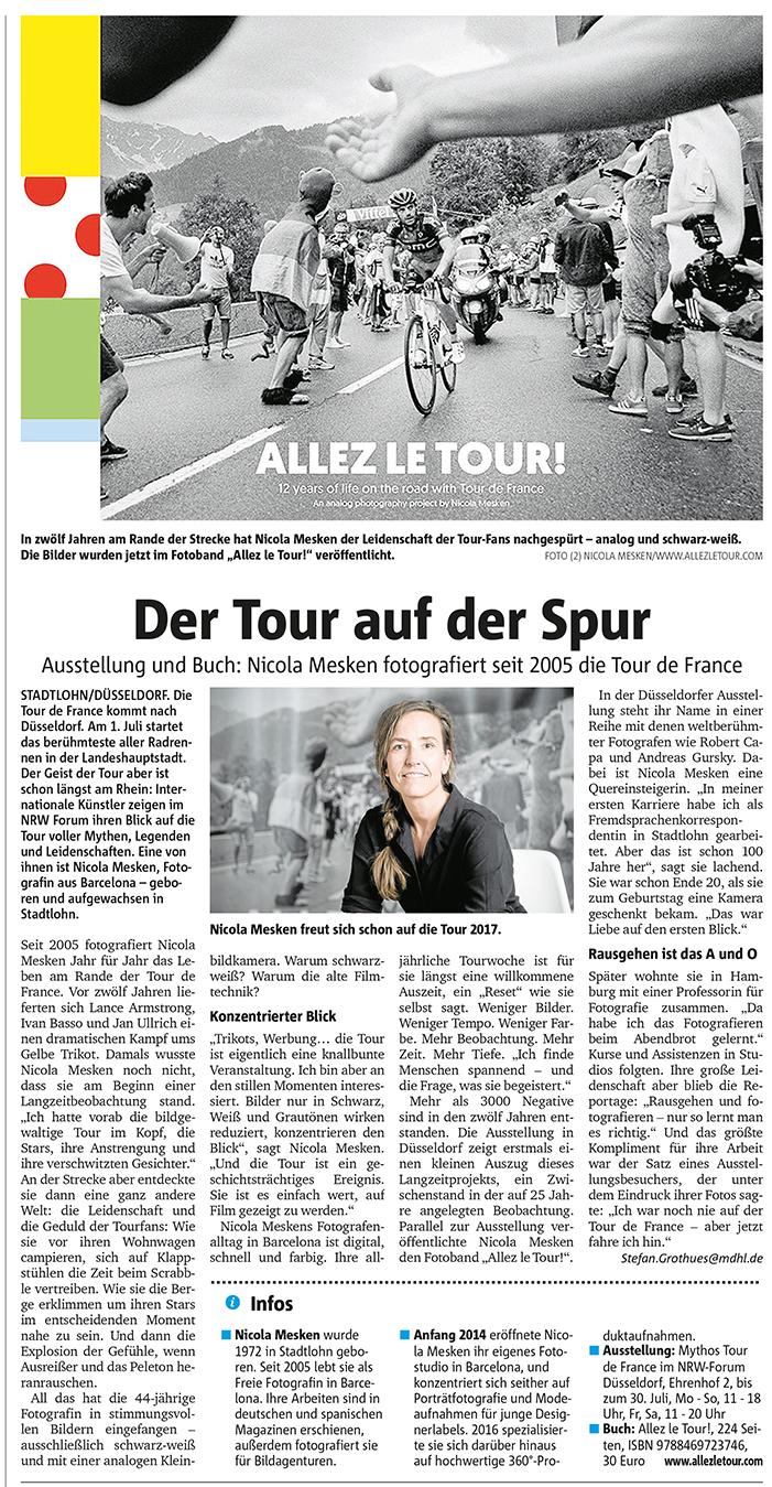 Münsterlandzeitung Allez le Tour Nicola Mesken WEB